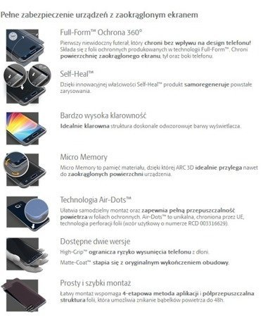 3MK ARC 3D SE High-Grip Folia na przód tył boki do Samsung Galaxy Note 8