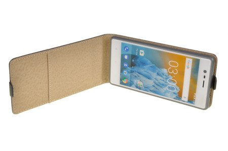 ETUI KABURA FLEXI W3 do Nokia 3 / Nokia 3 Dual Sim szary