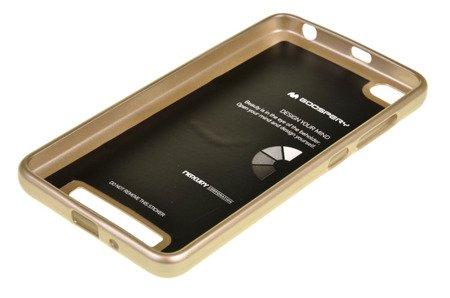 ETUI NAKŁADKA MERCURY GOOSPERY JELLY CASE do Xiaomi Redmi 4A złoty