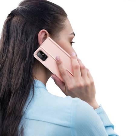 Etui Dux ducis eleganckie skórzane z klapką do Samsung Galaxy M31s M317 różowy