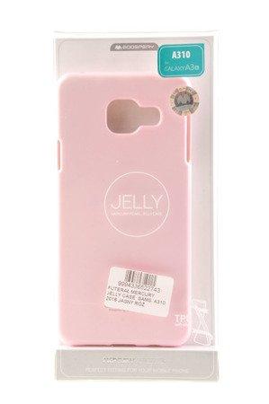 Etui Mercury Goosper Jelly Case do SAMSUNG GALAXY A3 2016 jasny róż