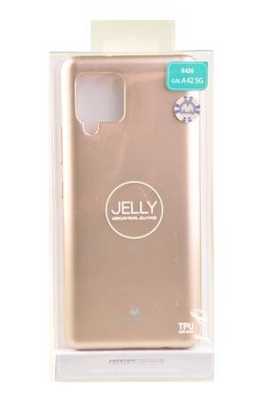 Etui Mercury Goospery Jelly Case do Samsung Galaxy A42 5G złoty