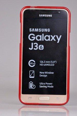 Etui Nakładka Mercury Goospery Jelly Case do SAMSUNG GALAXY J3 2016 J320 czerwony