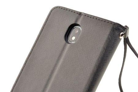 Etui Portfel Fancy Case + Szkło Hart. do SAMSUNG Galaxy J3 2017 J330 czarny