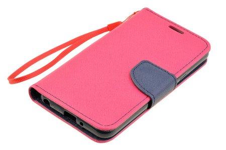 Etui Portfel Fancy Case do LG Q6 różowy