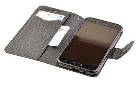 Etui Portfel Fancy Case do SAMSUNG Galaxy J3 2017 J330 czarny