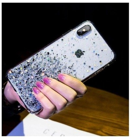 Etui brokatowe piękne Case do Xiaomi Redmi Note 9 przezroczysty