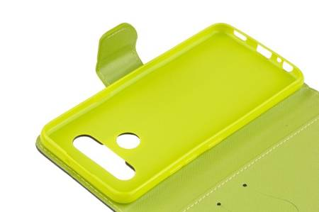 Etui portfel Fancy Case do LG K41s / K51s niebieski