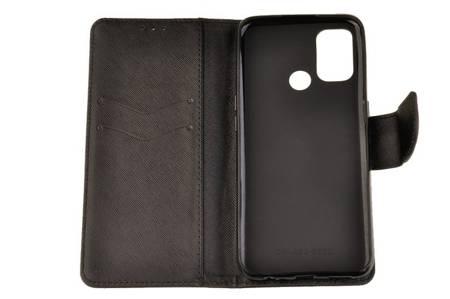 Etui portfel Fancy Case do Oppo A53 czarny