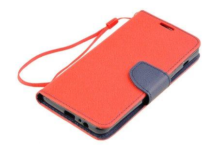 Etui portfel Fancy Case do SAMSUNG GALAXY A8 2018 A530 czerwony