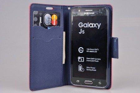 Etui portfel Fancy Case do SAMSUNG GALAXY J5 j500 (j5 2015) czerwony