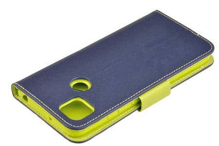 Etui portfel Fancy Case do Xiaomi Redmi 9C niebieski