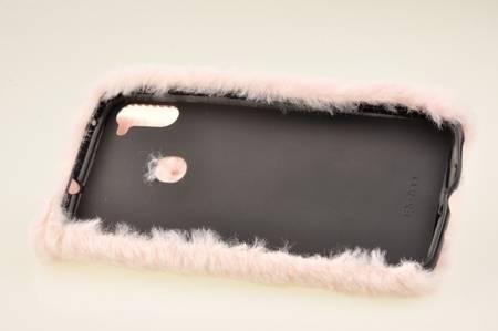 Etui z futerkiem króliczek do Samsung Galaxy M11 / A11 różowy