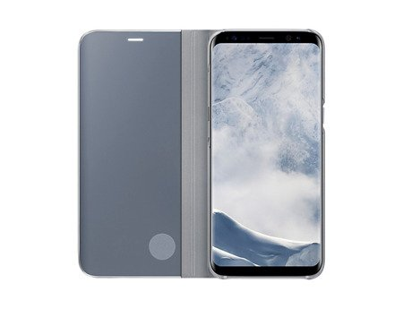 Oryginalne Etui Clear View Standing Cover do SAMSUNG Galaxy S8 G950 srebrny