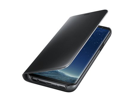Oryginalne Etui Clear View Standing Cover do SAMSUNG Galaxy S8 Plus S8+ G955 czarny