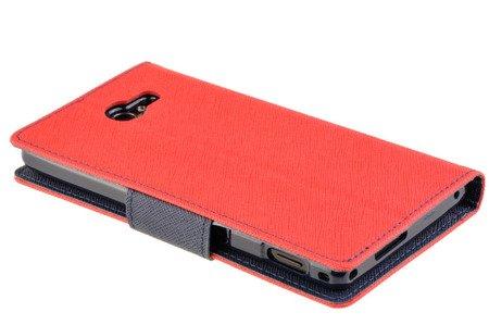 Oryginalne Etui portfel Mercury Fancy Case do SONY XPERIA M2 czerwony