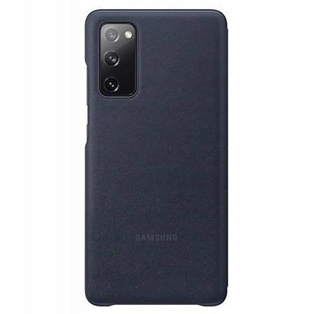 Oryginalne etui Smart Clear View Cover do Samsung Galaxy Galaxy S20 FE granatowy
