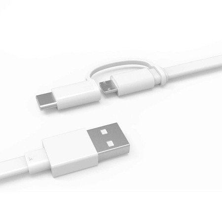 Oryginalny płaski kabel Huawei USB A - microUSB + USB Typ C 1,5m