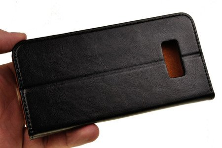 Skórzane Etui Book Cover do SAMSUNG Galaxy S8 Plus / S8+ G955 czarny